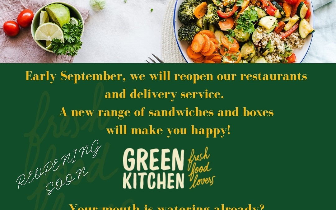 We are back to treat you with our fresh and healthy Food in September 2021!